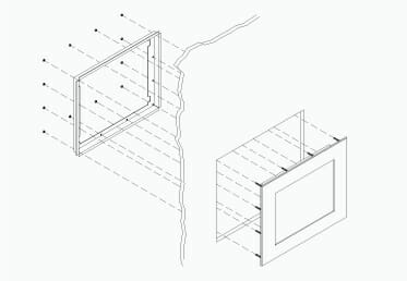 Mounting Diagram for Industrial Panel Mount Monitors