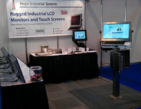 Hope Industrial's trade show booth at MACH 2012