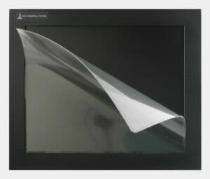"Screen Protector on a 17"" Panel Mount Touch Screen"