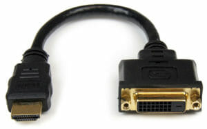 A simple HDMI to DVI Adapter from StarTech.com