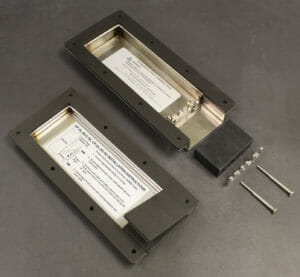 Inside View of NEMA 2 (left) and NEMA 4/4X (right) Cable Exit Cover Plate Options