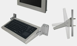 Folding Wall Mount Full-Travel Keyboard with Capacitive Touchpad