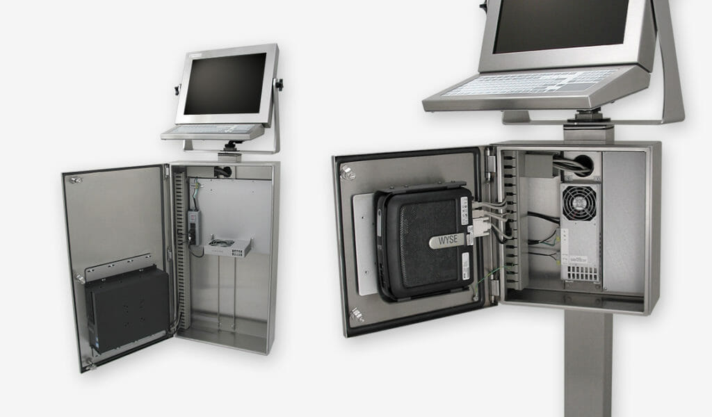 Industrial Enclosures for PCs and Thin Clients