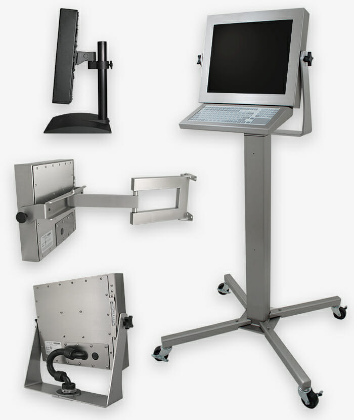 Industrial Mounting Options for Universal Mount Monitors