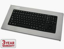 Panel Mount Industrial Keyboard sealed to IP65/IP66 standards