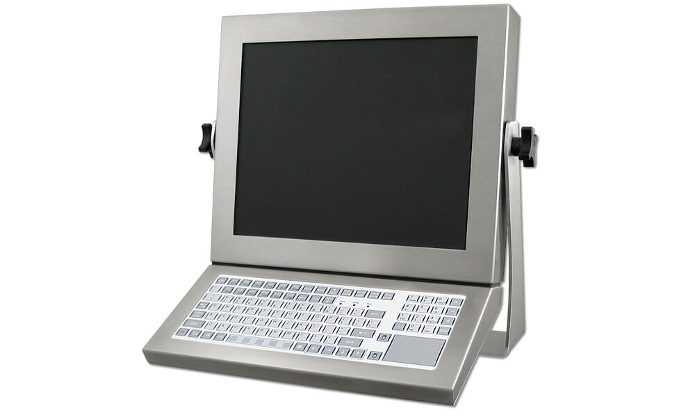 Monitor-Mounted Industrial Keyboard with Short-Travel Keypad