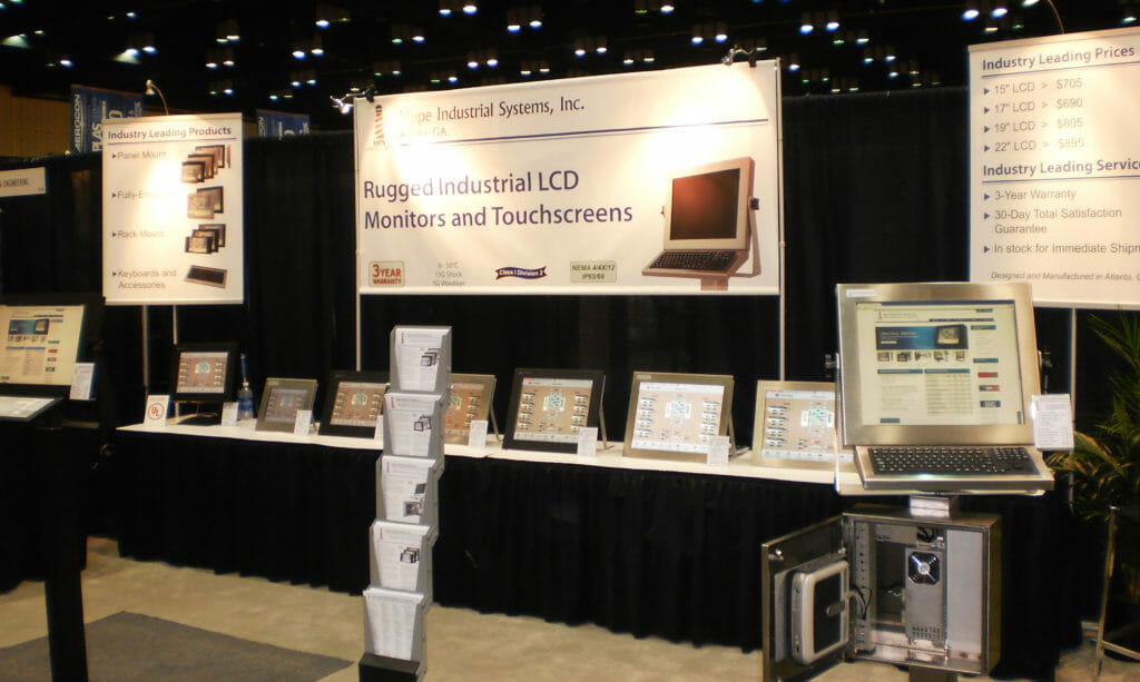 Hope Industrial Systems booth at Automation Technology South Expo
