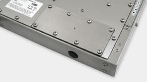 IP65/IP66 Pilot Hole Cover Plate Option for Universal Mount Industrial Monitors