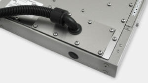 IP65/IP66 Conduit Cable Exit Cover Plate Option for Universal Mount Industrial Monitors