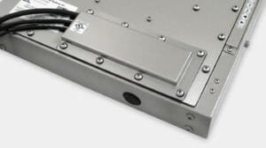 IP65/IP66 or IP22 Compression Gland Cable Exit Cover Plate Option for Universal Mount Industrial Monitors