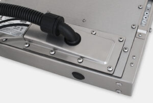 IP65/IP66 Compression Gland with Conduit Cable Exit Cover Plate Option for Universal Mount Industrial Monitors