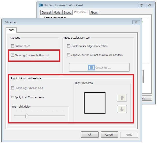 Advanced Elo Properties - Right Click settings