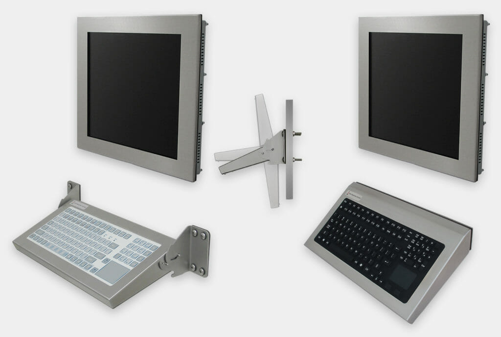 Industrial Wall Mount Keyboard Options, Folding and Fixed Mount Models