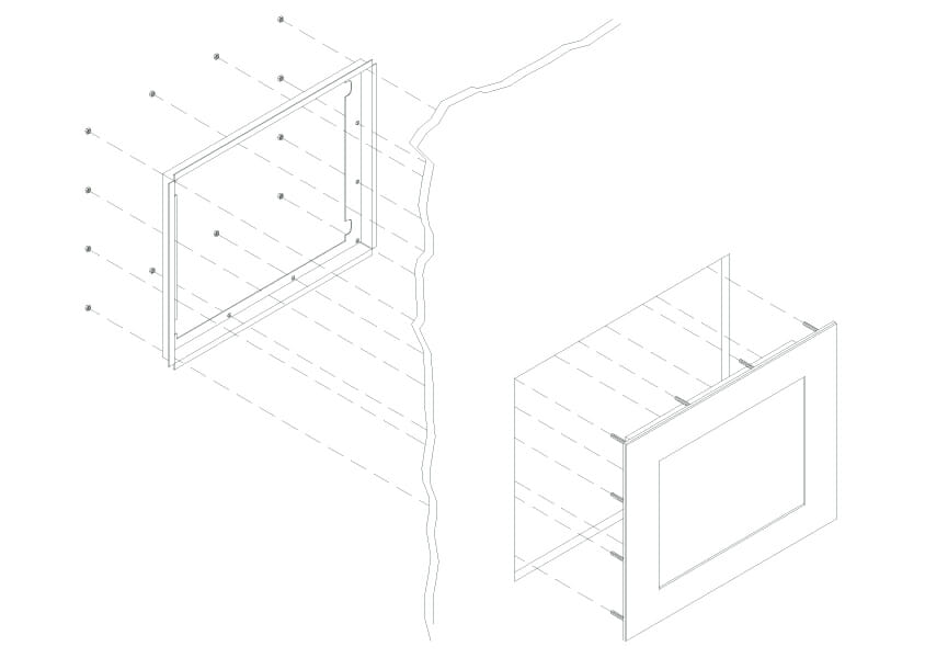 Panel Mount Monitor Mounting Diagram