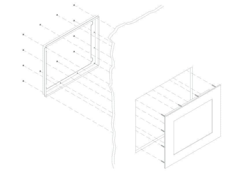 Diagramma di montaggio per monitor per montaggio a pannello