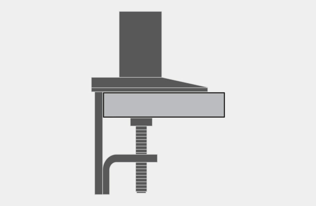 VESA Radial Arm Bench Clamp Mount Option