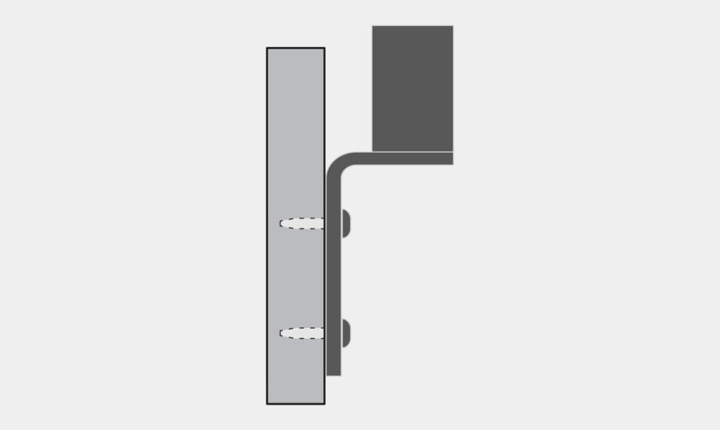 VESA Radial Arm Reverse Wall Mount Option