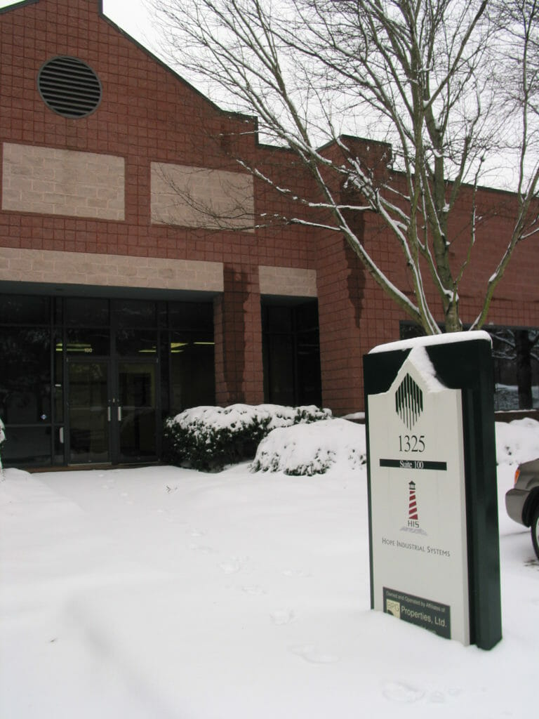 Snow Storm at Hope Industrial Offices, January 2011