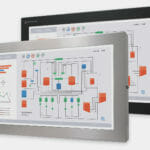 "23"" Widescreen Universal Mount Industrial Monitors and IP65/IP66 Rugged Touch Screens, front view"