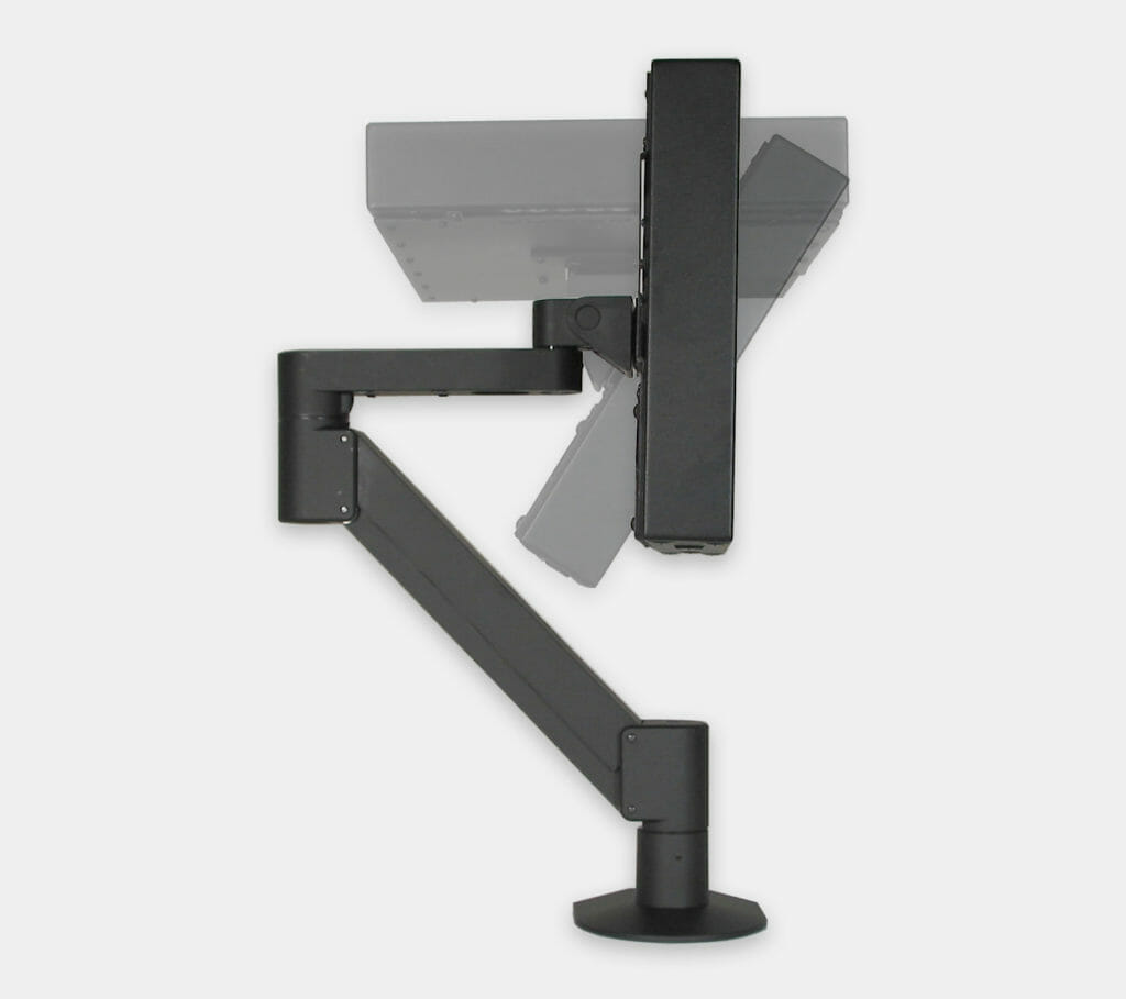 VESA Radial Arm Mount for Industrial Monitors, monitor tilt range
