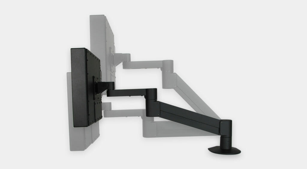VESA Radial Arm Mount for Industrial Monitors, vertical adjustment range