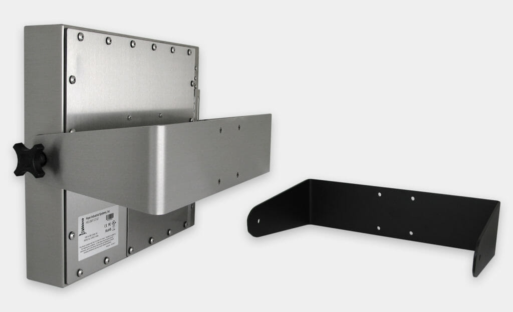 Heavy Industrial Wall Yoke Mounts for Universal Mount Monitors, IP65/IP66 Rated