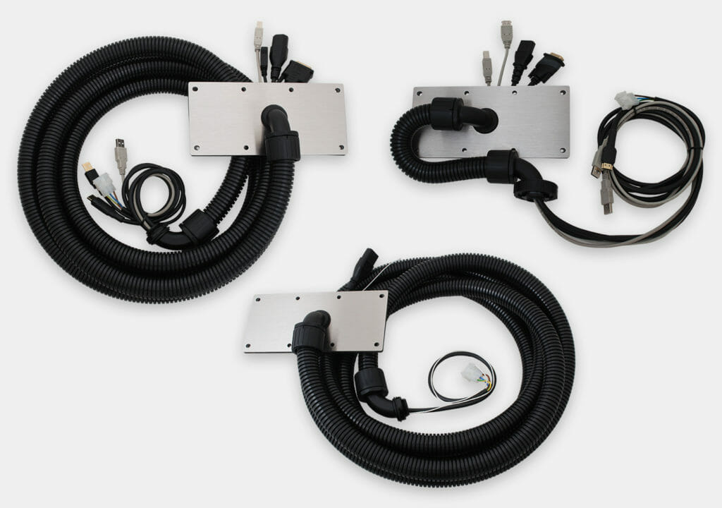Conduit/Cable Cover Plate Assembly Options for Universal Mount Monitors