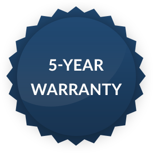 5-Year Warranty Badge for Hope Industrial Systems