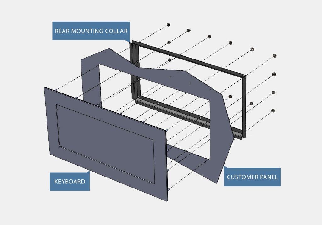 Flat Panel Mount Keyboard Mounting Diagram